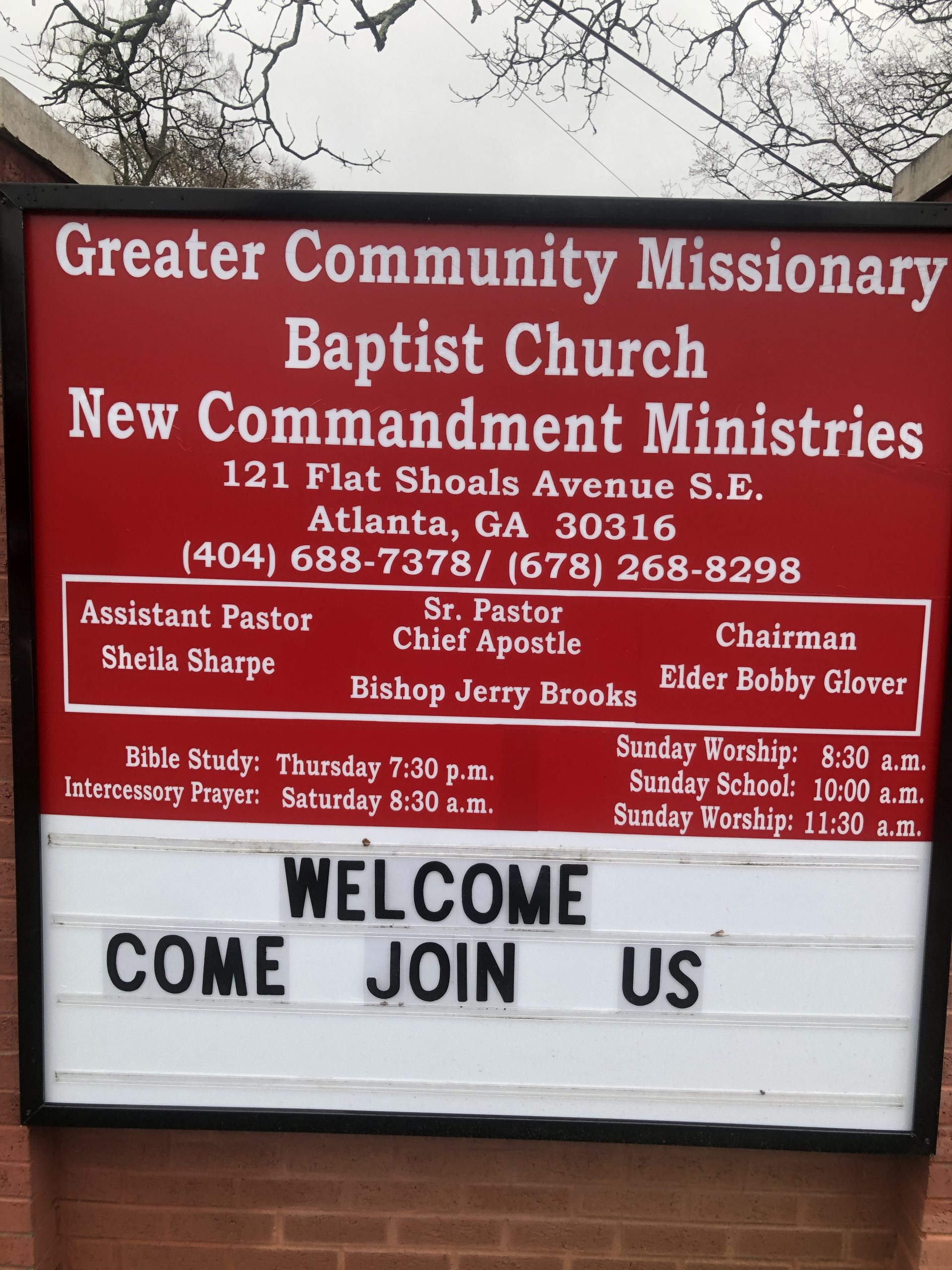 New Church Signage